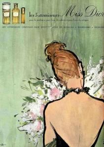 Miss Dior vintage ad 1950s