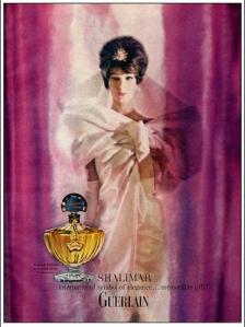 Shalimar vintage ad 1960s
