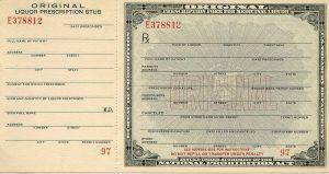 Wine Prescription Form in Prohibition